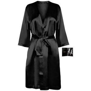 NWT❣️ Caroline Herrera Silky Black Robe